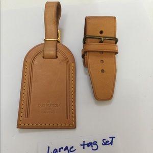 Authentic Louis Vuitton Large Name Tag set
